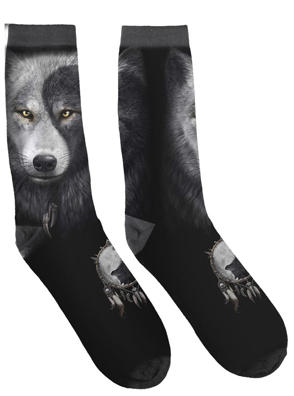 Unisex Wolf Chi Printed Socks by Spiral USA
