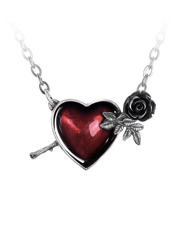 """Wounded by Love"" Necklace by Alchemy of England (Pewter)"