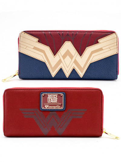 """DC Comics: Wonder Woman Cosplay"" Wallet by Loungefly (Red)"