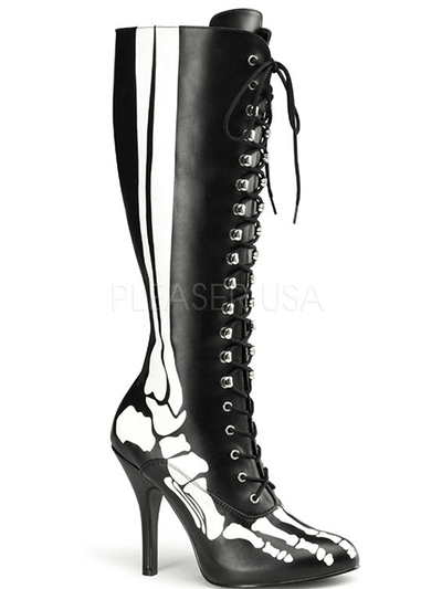 "Women's ""X-Ray"" Boots by Funtasma (Black) - www.inkedshop.com"