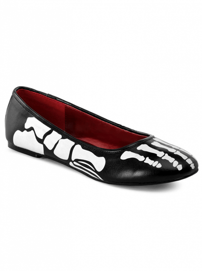 "Women's ""X-ray"" Flat by Funtasma (Black/White) - www.inkedshop.com"
