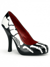 "Women's ""X-ray"" 4 1/2"" Heels by Funtasma (Black/White) - www.inkedshop.com"