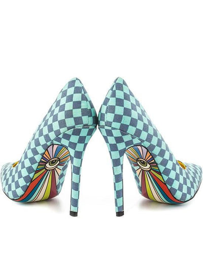 """Yes"" Heels by Taylorsays (Blue) - www.inkedshop.com"