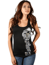 "Women's ""Love Key"" Racerback by OG Abel (Black) - www.inkedshop.com"