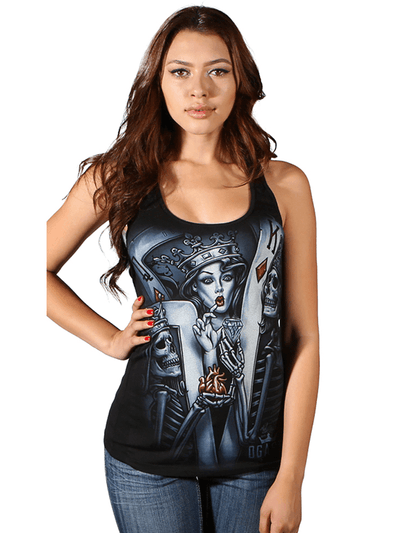 "Women's ""Love N Hustle"" Racerback by OG Abel (Black) - www.inkedshop.com"