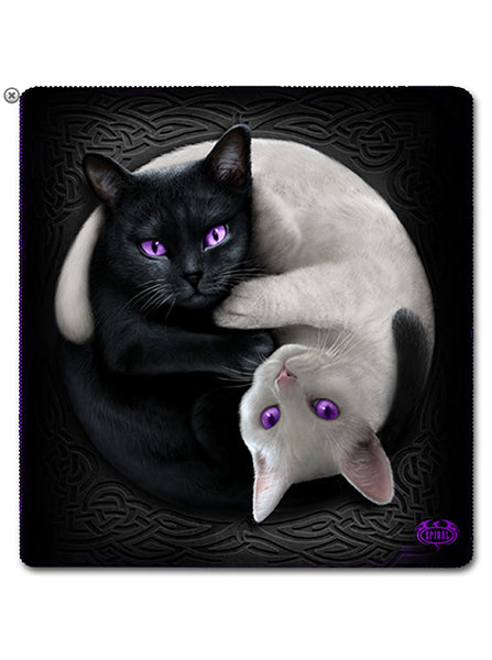 Yin Yang Cats Fleece Blanket by Spiral USA