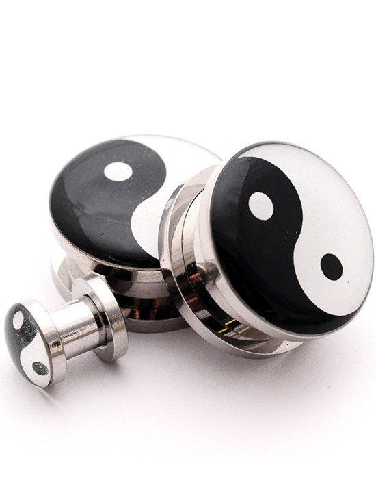 Yin Yang Plugs by Mystic Metals - www.inkedshop.com