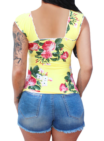 Women's Vylette V-Sleeve Pinup Top by Demi Loon