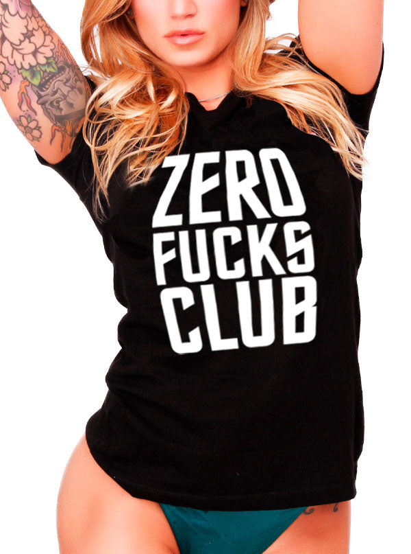 Unisex Zero Fucks Club Tee by Dirty Shirty