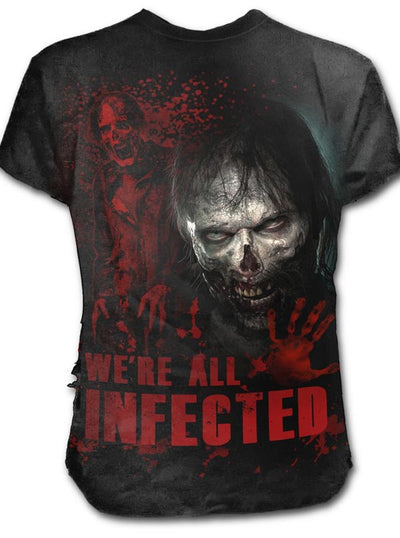 Men's Zombie: All Infected Walking Dead Tee by Spiral USA