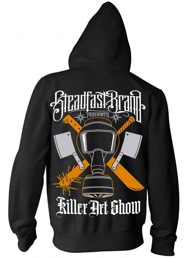 "Men's ""Killer Art"" Zip Hoodie by Steadfast Brand (Black) - InkedShop - 1"