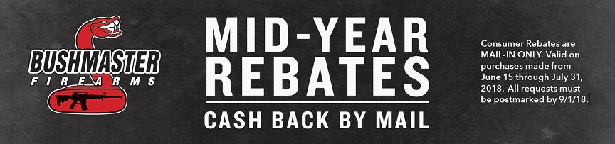 Bushmaster 2018 Mid-Year Rebates - Cash Back by Mail