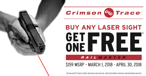 Crimson Trace Buy Any Laser Sight Get One Free Rail Master