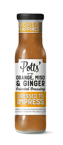Potts Orange, Miso and Sake Oriental Inspired Salad Dressing