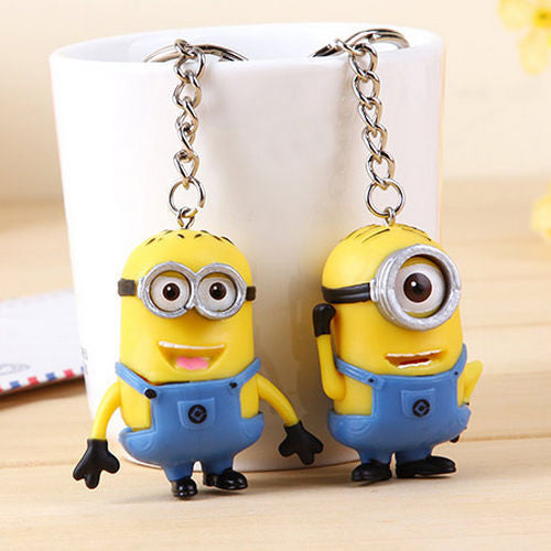 Brand New 2Pc Despicable Me Minions Keychain Set - FREE SHIPPING
