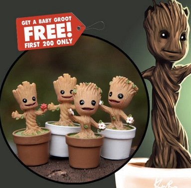 2016 MINI GROOT ! GUARDIANS OF THE GALAXY MINI CUTE GROOT MODEL ACTION AND TOY FIGURES