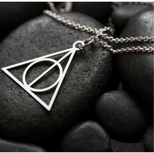 2016 Harry Potter Deathly Hallows Collier Cross Necklace - Unisex