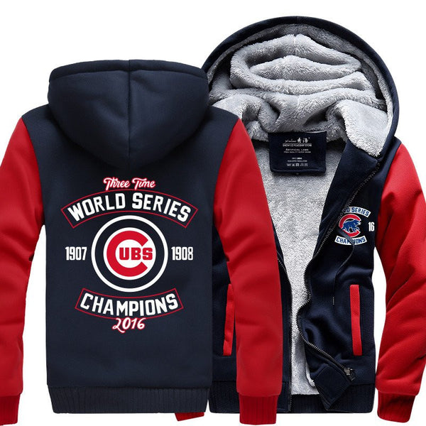 Exclusive Championship Chicago Cubs Zipper Jacket 50% Off