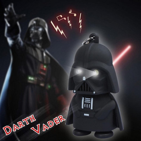 *Free* LED Darth Vader star war action figure keychain