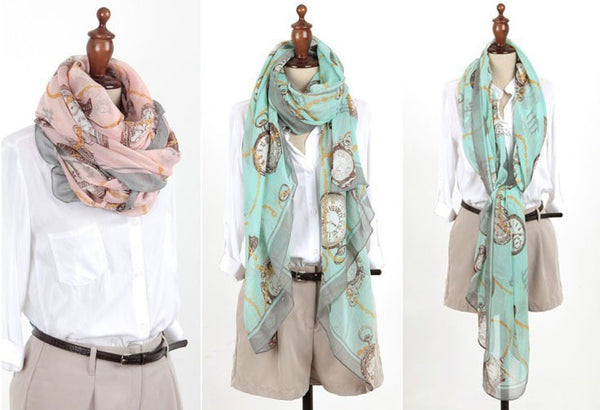 Long Chiffon Scarf Shawl Wrap