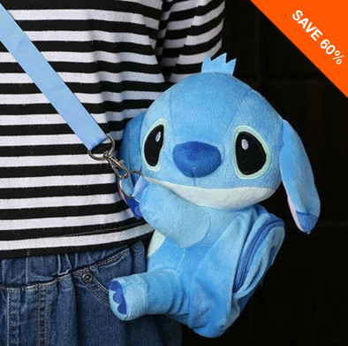 LILO & STITCH PLUSH MESSENGER BAG - 60% OFF! - FREE Shipping
