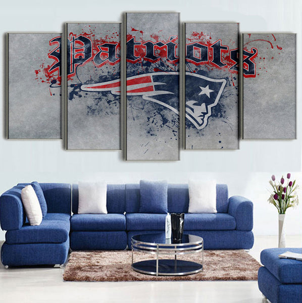 (50% OFF) HD LIMITED EDITION NEW ENGLAND PATRIOTS PAINT SPLASH CANVAS - FREE SHIPPING