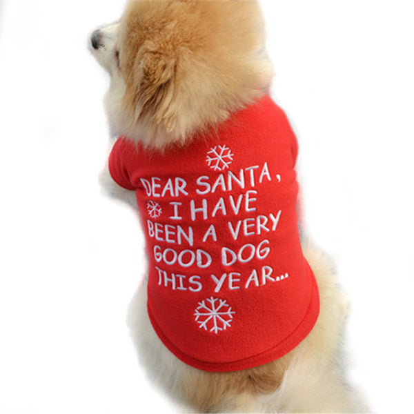 "Dear Santa Doggy Christmas Shirt ""I Have Been A Good Dog This Year"""