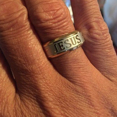 Gold & Silver Jesus Ring - Buy 1 Get 2 FREE