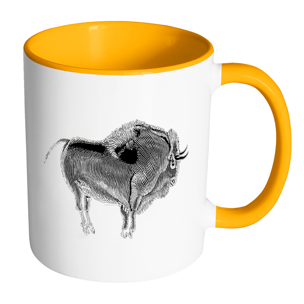 Cave Art Accent Mugs-Drinkware-Plain Graphic Shirts