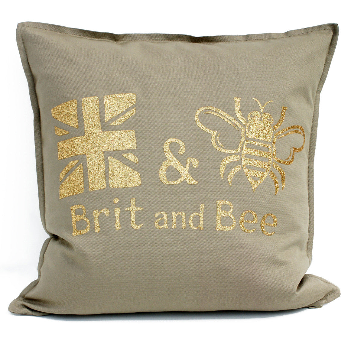 Brit and Bee Throw Pillow