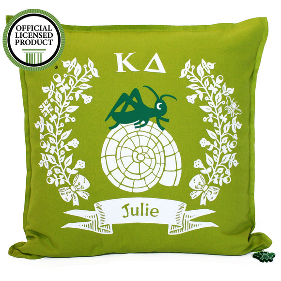 Brit and Bee Throw Pillow - Kappa Delta