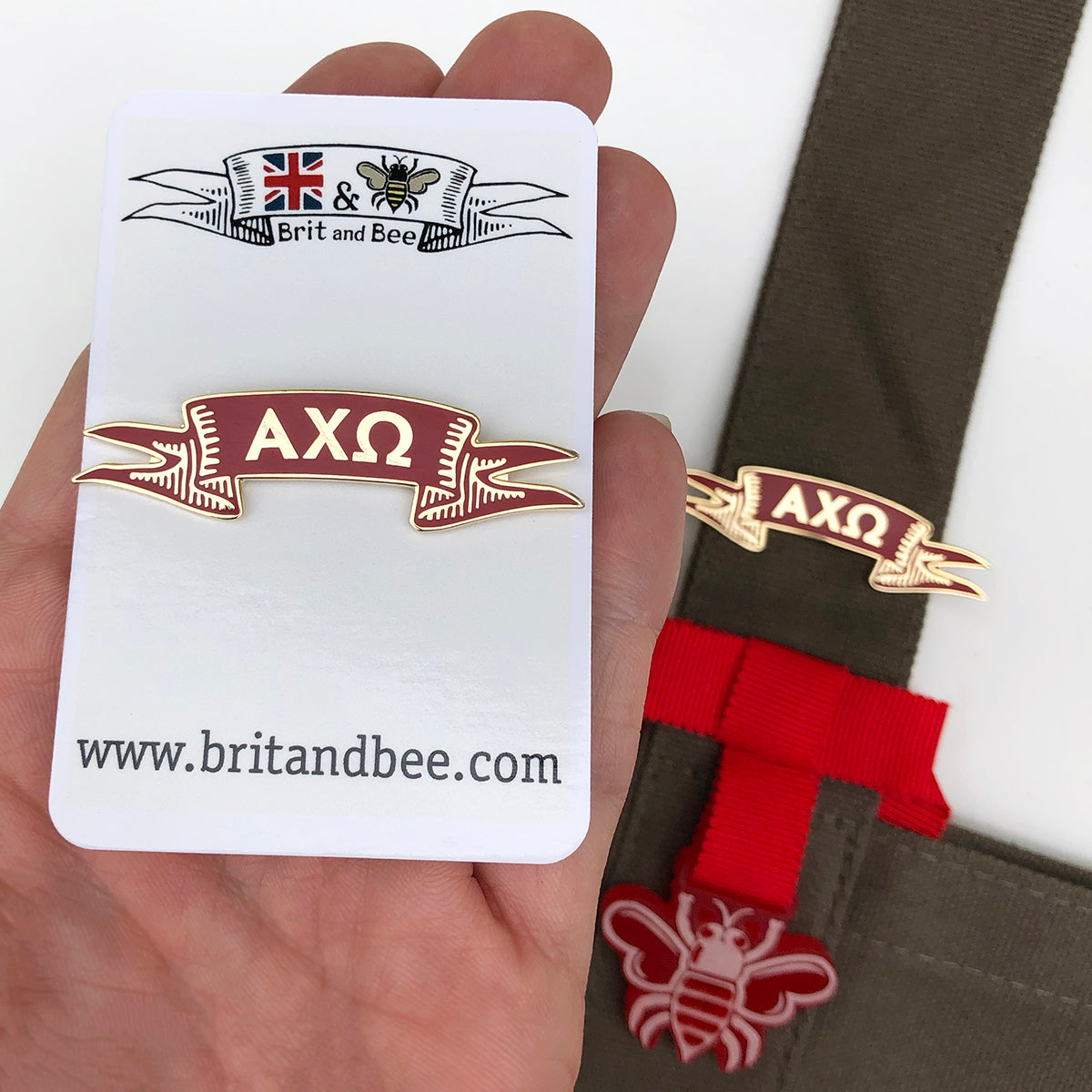 Alpha Chi Omega Pin | Brit and Bee