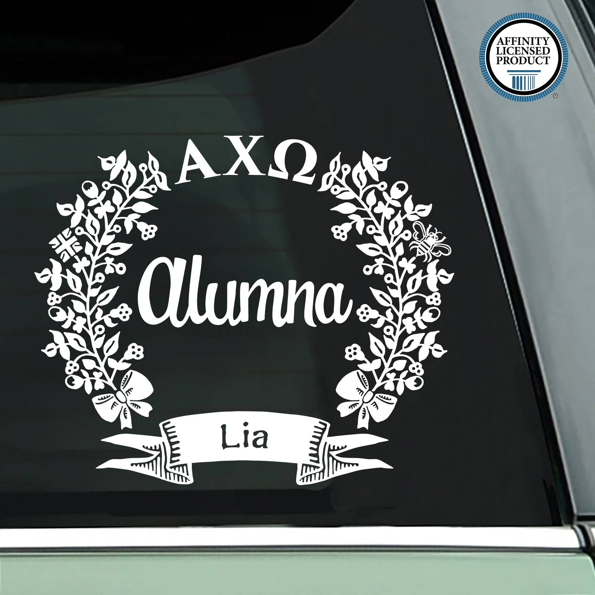Alpha Chi Omega Alumna Decal | Brit and Bee