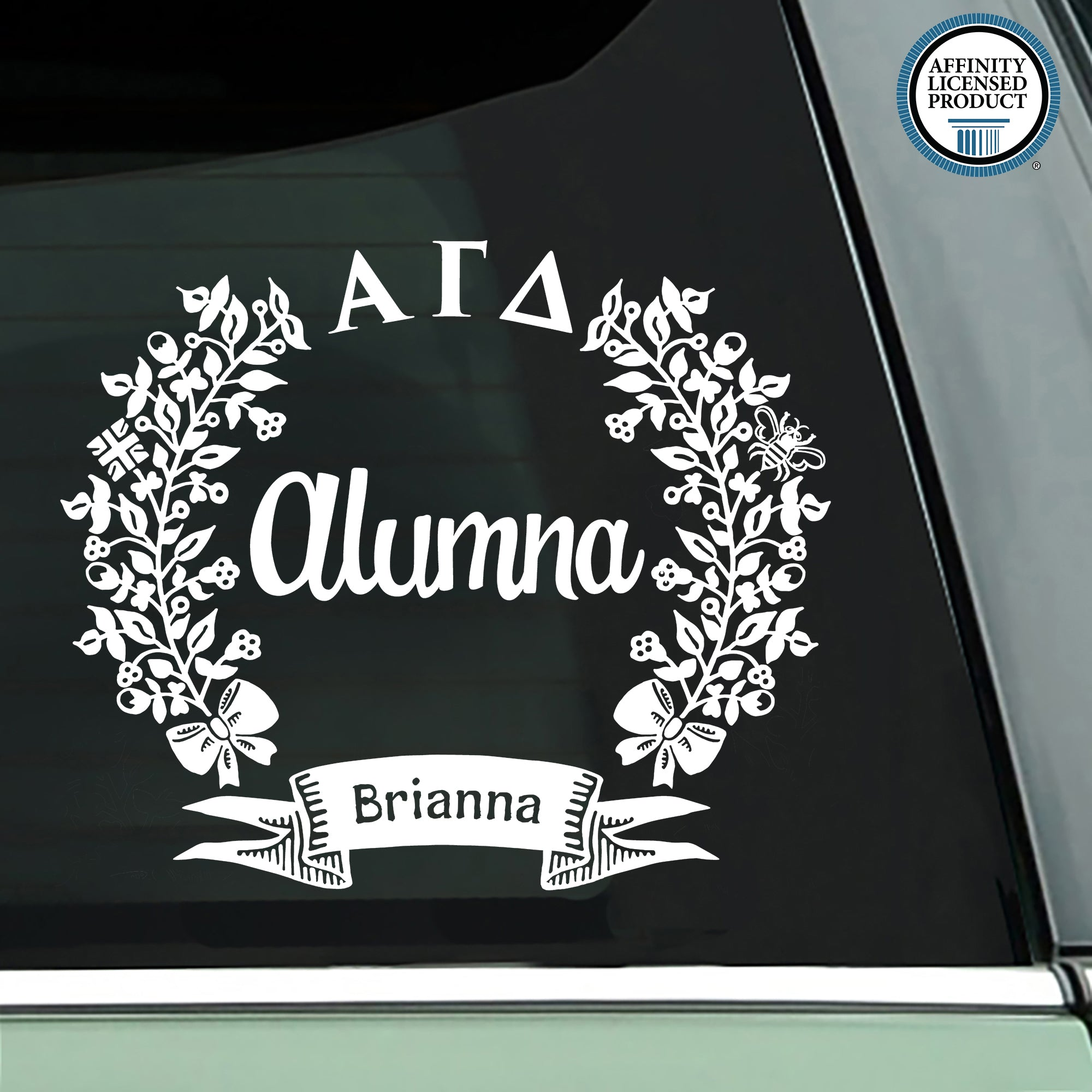 Alpha Gamma Delta Alumna Decal | Brit and Bee