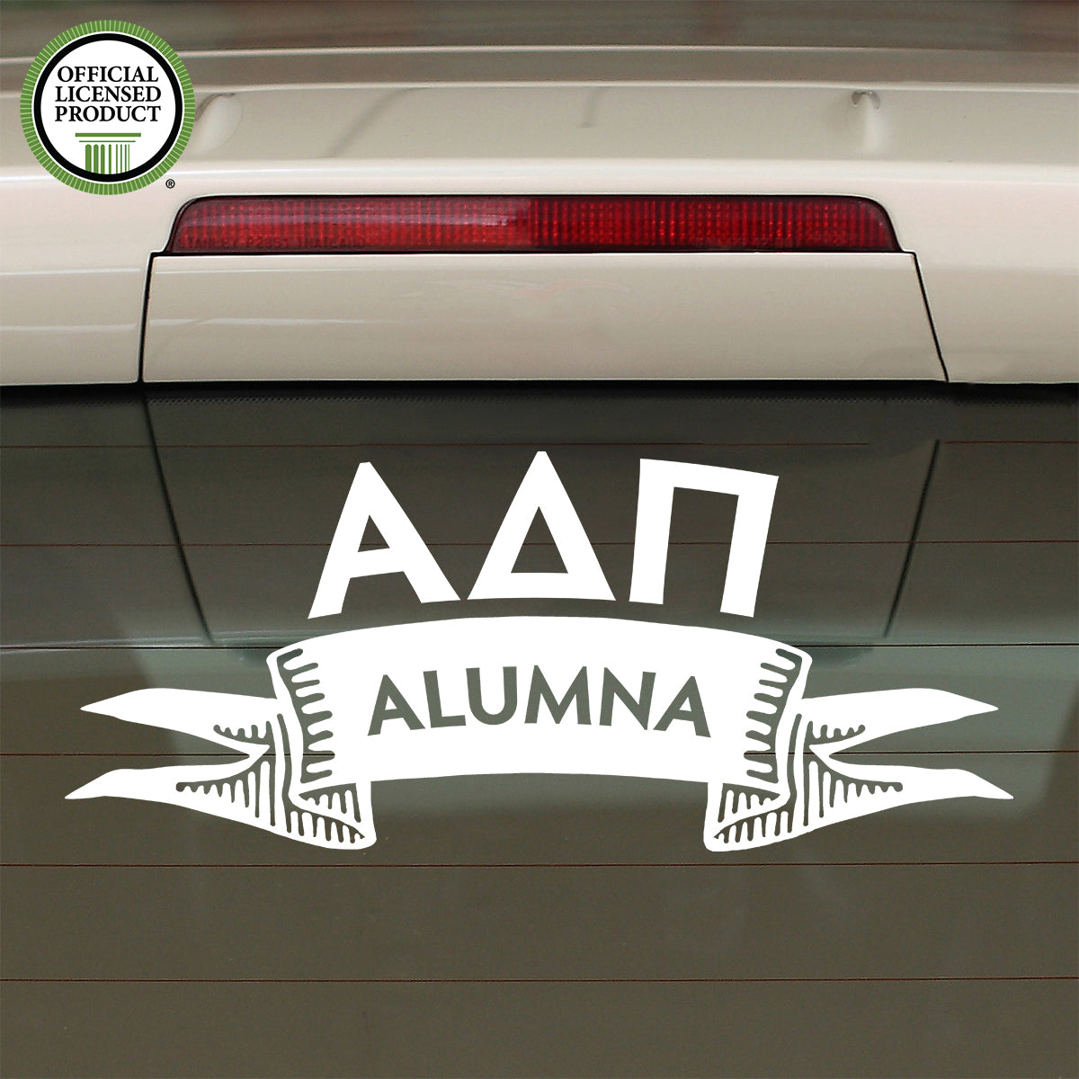Brit and Bee Sorority Ribbon Alumna Decal - Alpha Delta Pi