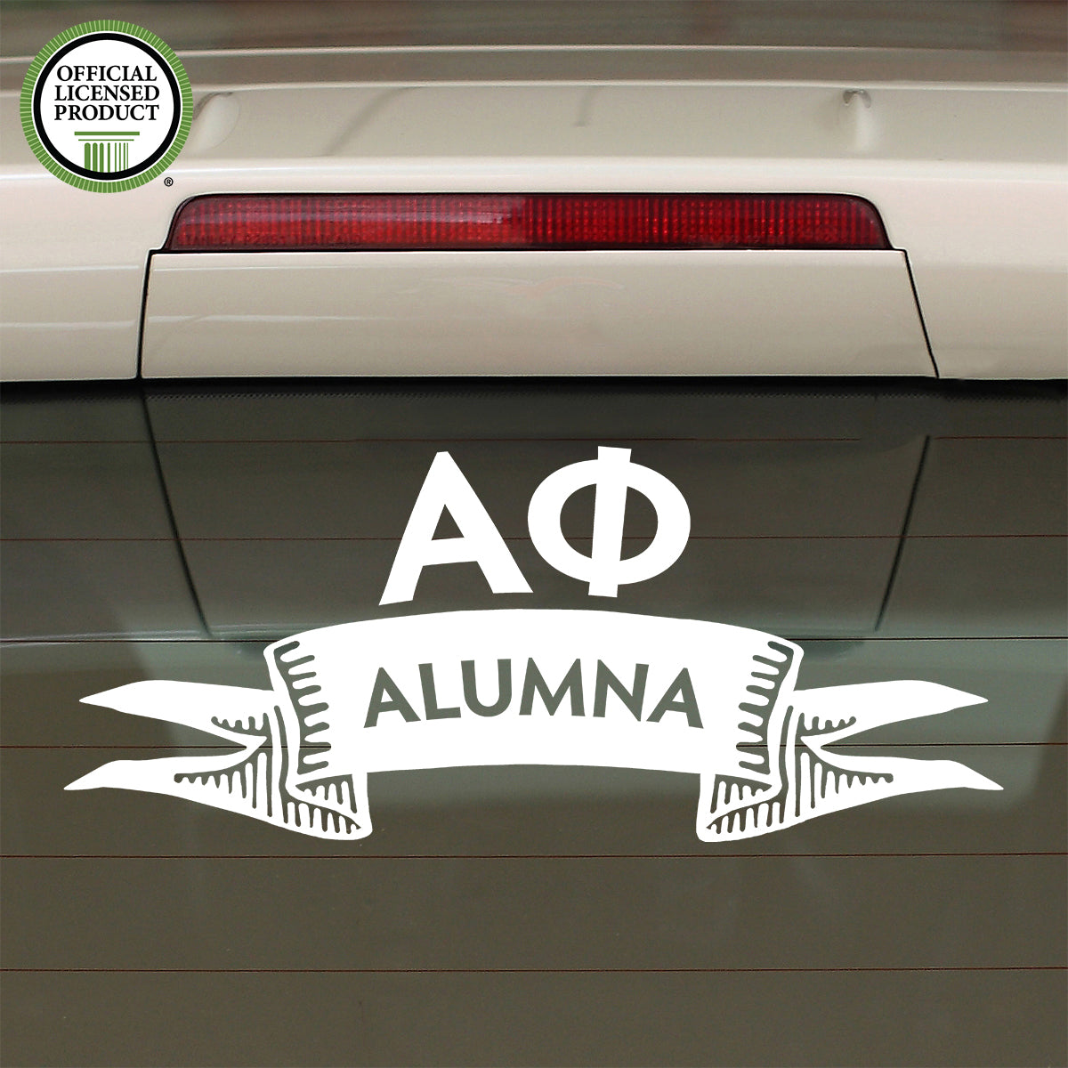 Brit and Bee Sorority Ribbon Alumna Decal - Alpha Phi