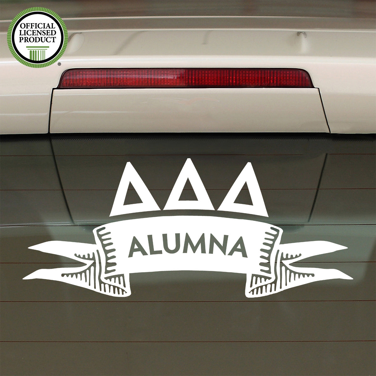 Brit and Bee Sorority Ribbon Alumna Decal - Delta Delta Delta