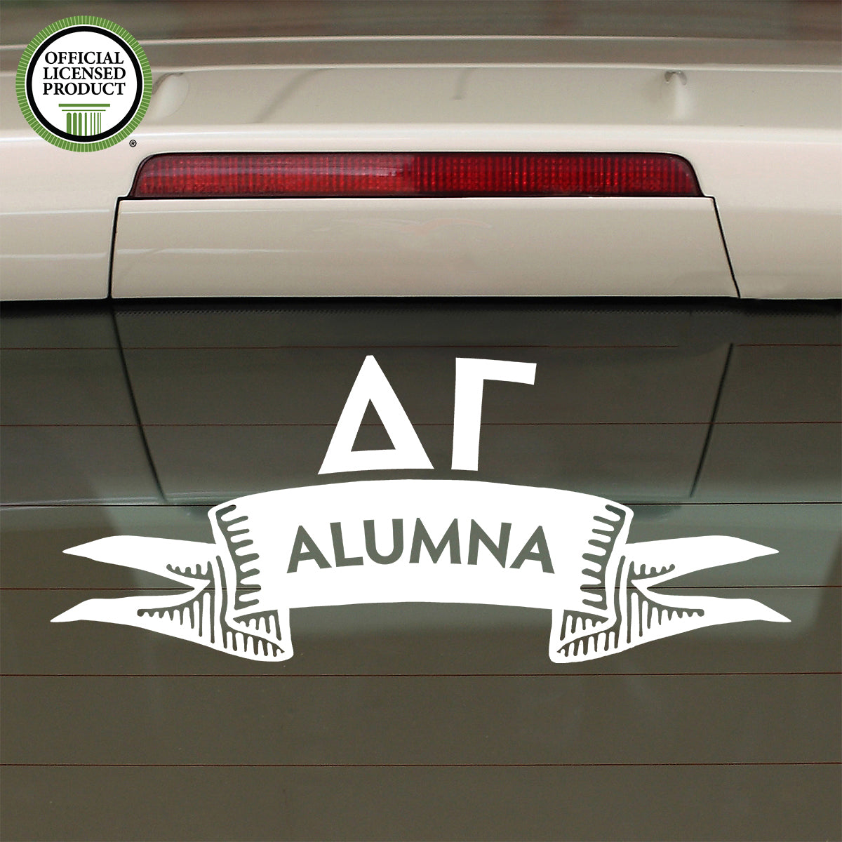 Brit and Bee Sorority Ribbon Alumna Decal - Delta Gamma