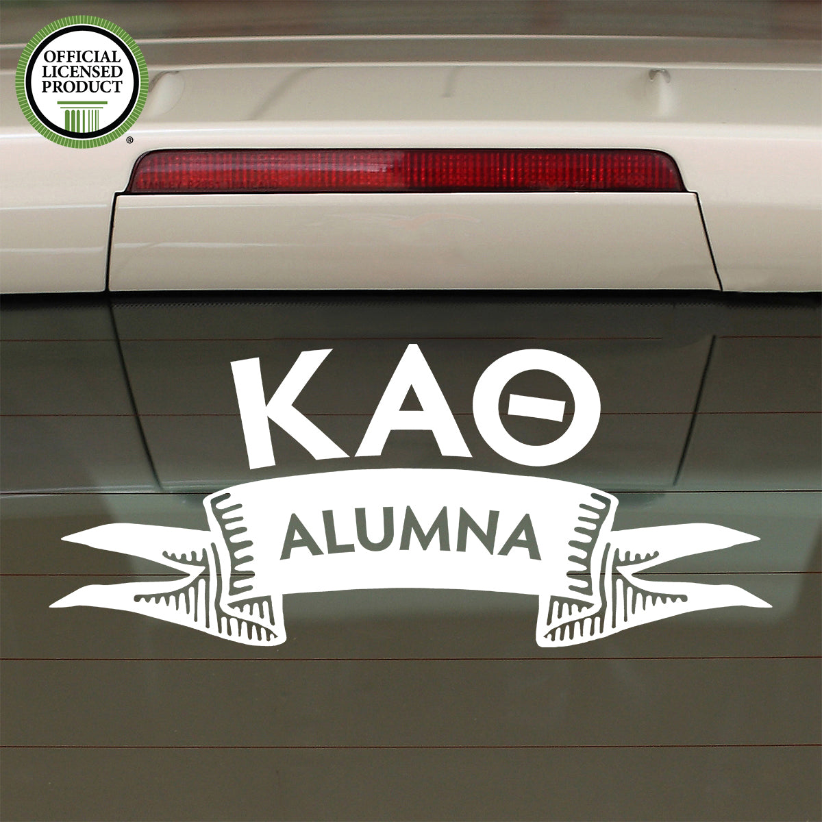 Brit and Bee Sorority Ribbon Alumna Decal - Kappa Alpha Theta
