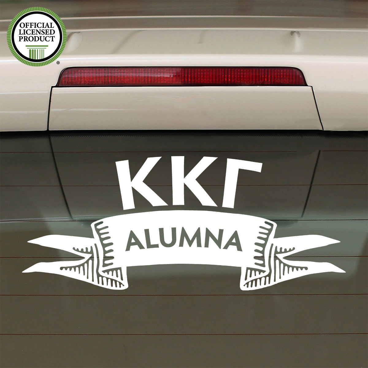 Brit and Bee Sorority Ribbon Alumna Decal - Kappa Kappa Gamma