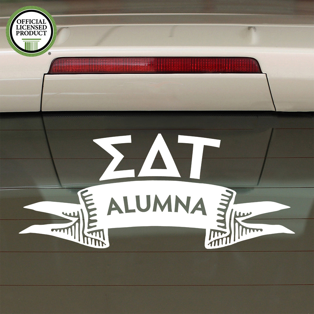 Brit and Bee Sorority Ribbon Alumna Decal - Sigma Delta Tau