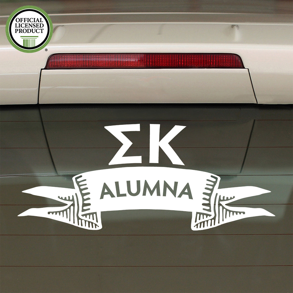 Brit and Bee Sorority Ribbon Alumna Decal - Sigma Kappa
