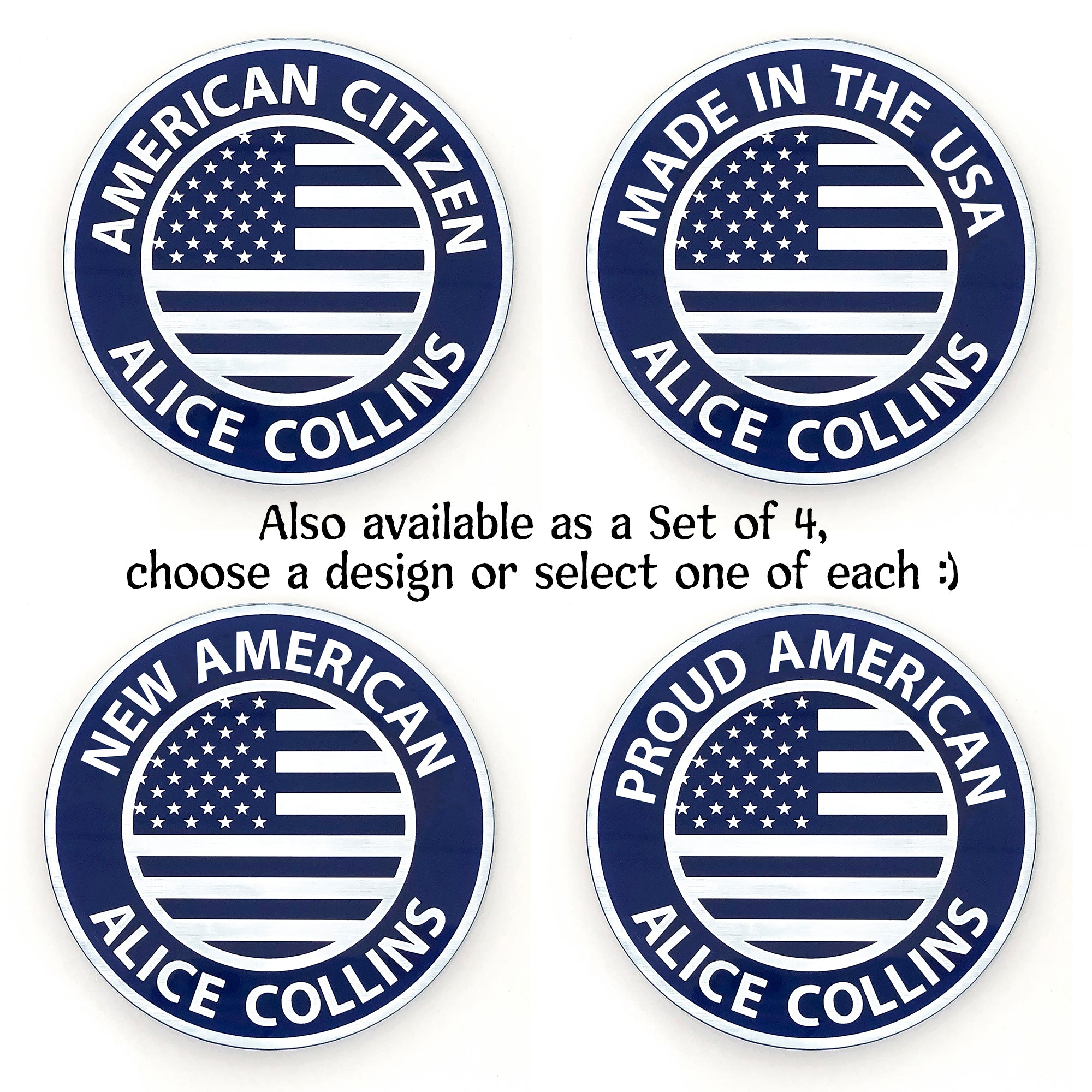 American Citizen Coaster | Brit and Bee