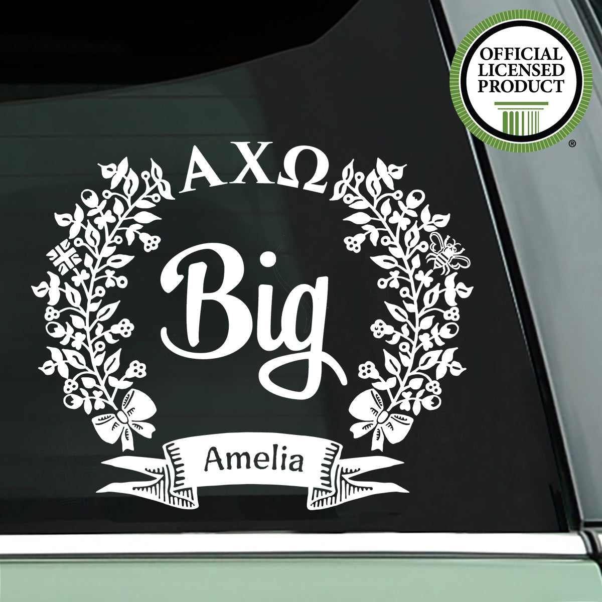 Brit and Bee Sorority Big Decal - Alpha Chi Omega