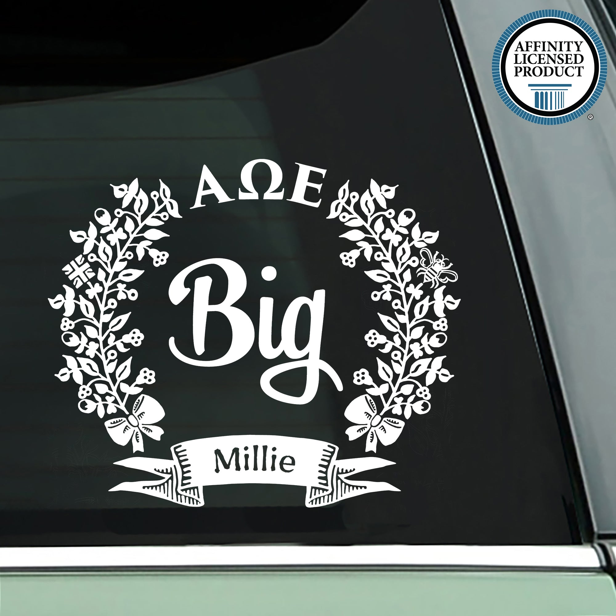 Alpha Omega Epsilon Decal | Brit and Bee