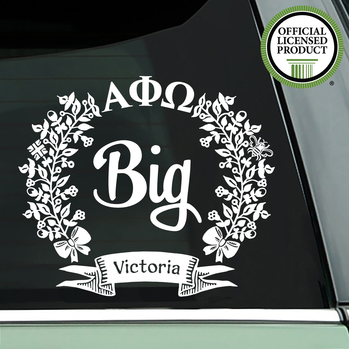 Brit and Bee Big Decal - Alpha Phi Omega