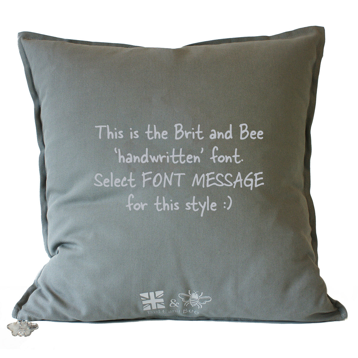 Brit and Bee Birthday Garland Throw Pillow