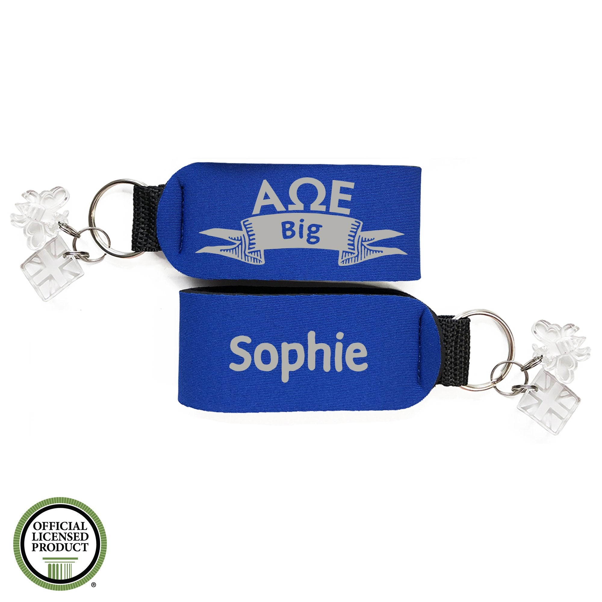 Alpha Omega Epsilon Big Sister Keychain | Brit and Bee