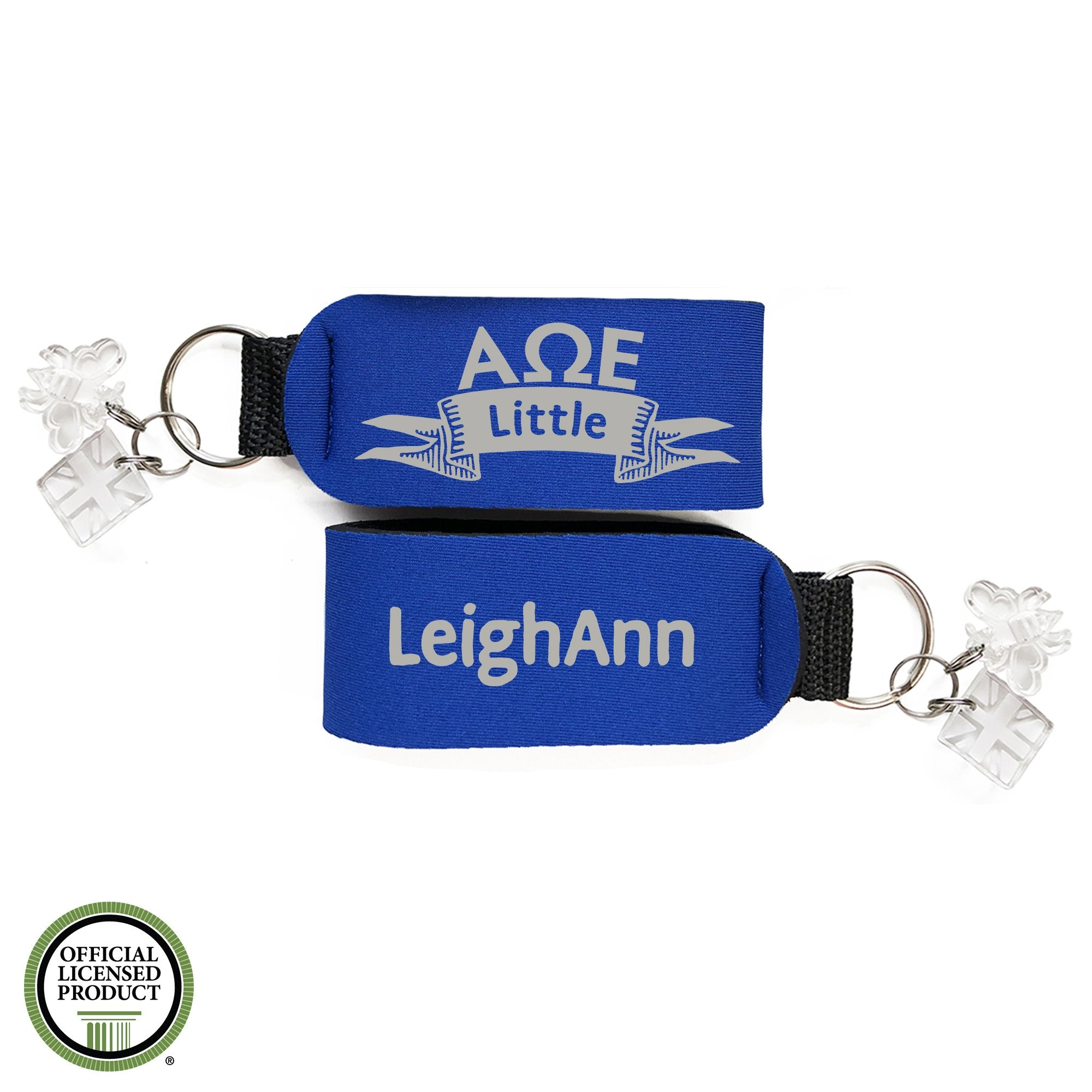 Alpha Omega Epsilon Little Sister Keychain | Brit and Bee