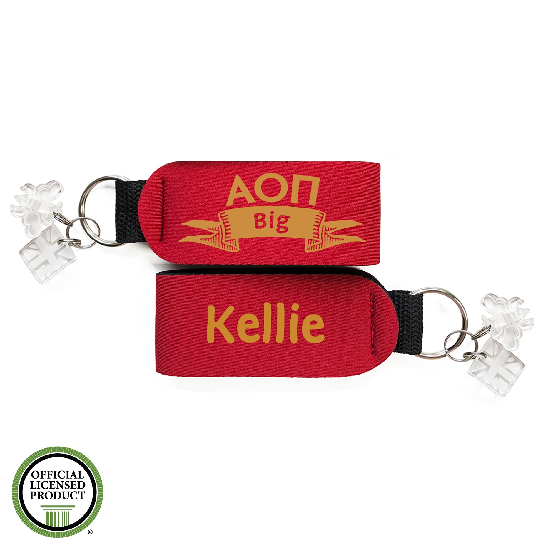 Brit and Bee Sorority Keychain - Alpha Omicron Pi